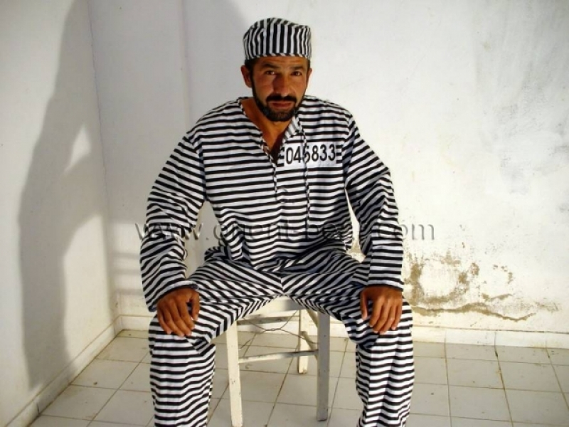 Rasim is a slender turkish man jerking his stone hard long cock naked in his jail cell. (id691)