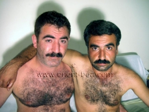 Sefer and Ali S. - are two naked turkish bears with hairy body fuck in a turkish gay video in the dog position. (id726)