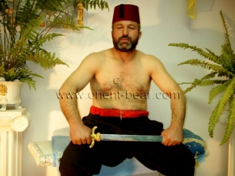 Ercan in this turkish gay porn video you can see a older turkish bear with hard cock and a loud cumshot. (id759)
