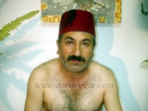 Hayder - a naked older turkish bear with a big fat cock in a turkish gay video. (id807)