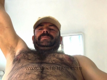 Halif - very hairy naked turkish bear with a big fat cock to see in a hot turkish gay video.  (id995)